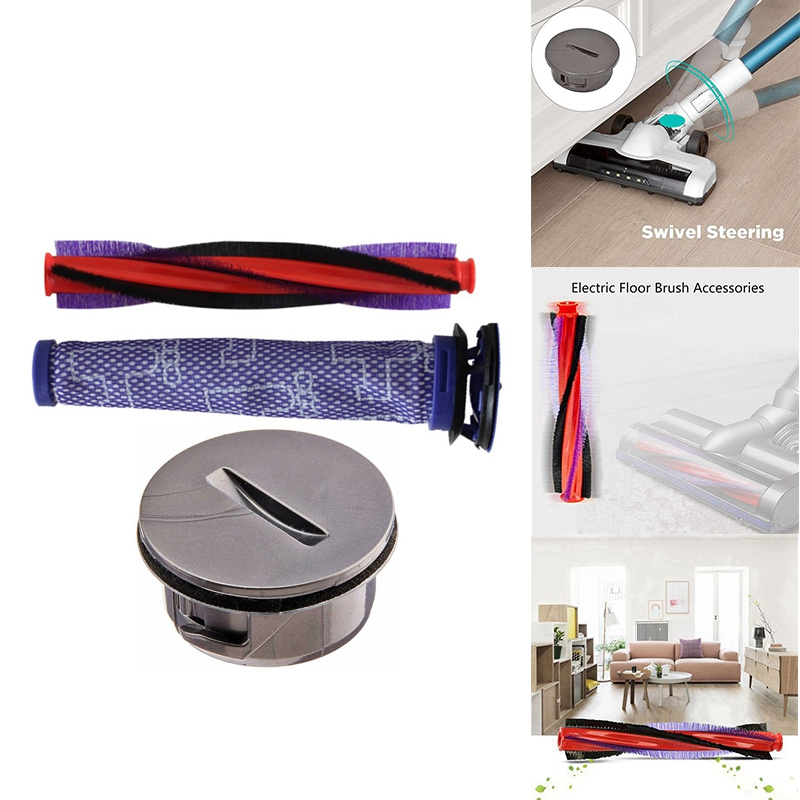 Replace Roller Brush Bar for Dyson V6 DC59 Vacuum Cleaner Brushroll End Cap Cover Replace Part Pre Motor Filters