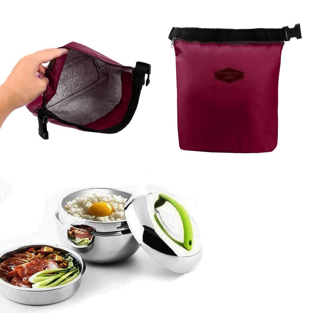 Портативный изолированный Ланч бокс, сумка кулер, Водонепроницаемый Специальный теплоизоляционный материал, нейлоновая сумка для корма, Прямая поставка Сумки для завтрака      АлиЭкспресс