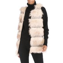 Faux Fur Coat Fashion Women Casual Loose Solid Color Sleeveless Cardigan Plush Vest Tops Furry Chaqueta Mujer bontjas Teddy Coat(China)