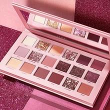 Novo 18 cores nude glitter sombra fosco shimmer paleta de longa duração à prova dwaterproof água mineral pó sombra olho maquiagem kit cosmético