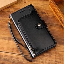 Coque portefeuille en cuir souple à fermeture éclair, étui à rabat pour IPhone 11, 12 Pro, 12 Pro Max