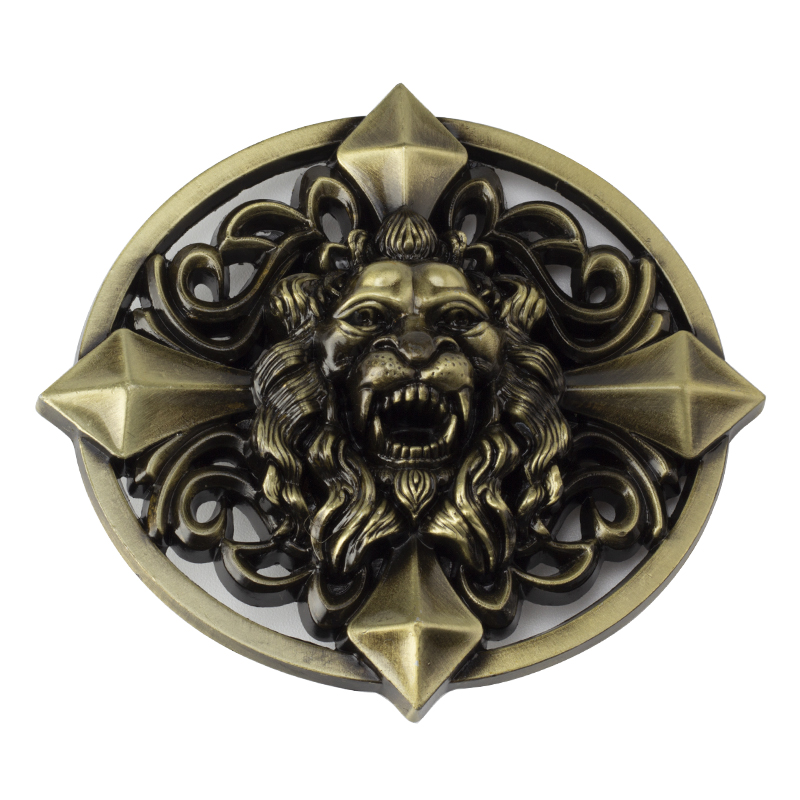 Red Eye Lion Head Belt Buckle Animal Belt Head