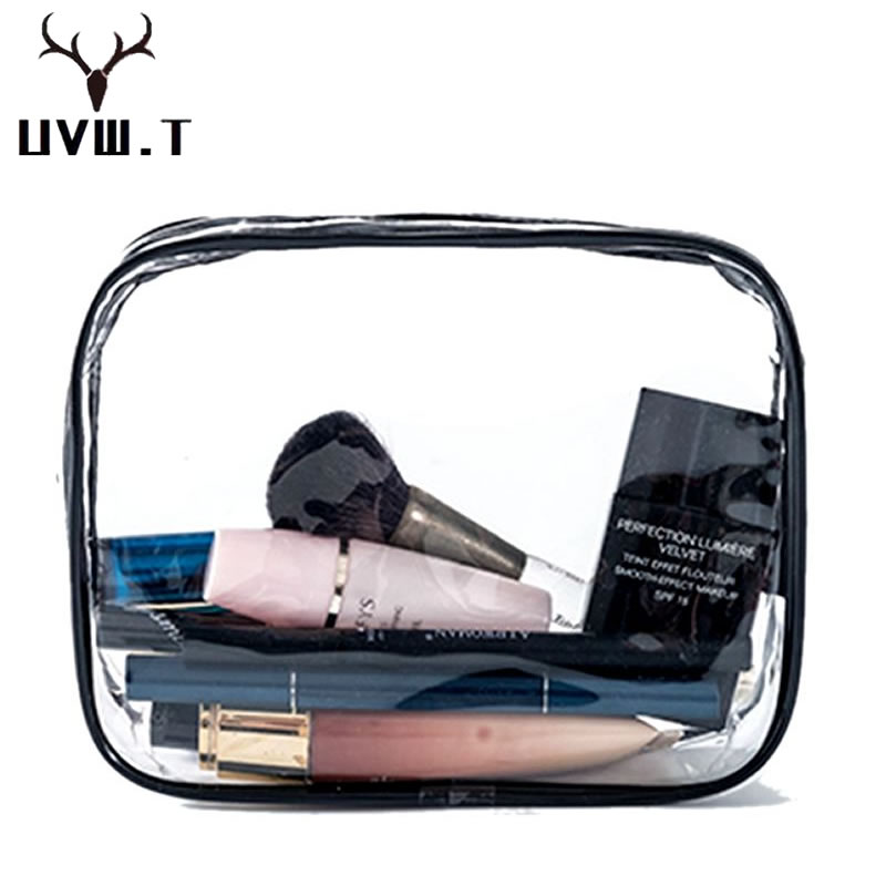 Transparent PVC Cosmetic Bag Women Travel Makeup Men Purse Bag Zipper Make Up Organizer Toiletry Beauty Wash Case Storage Pouch