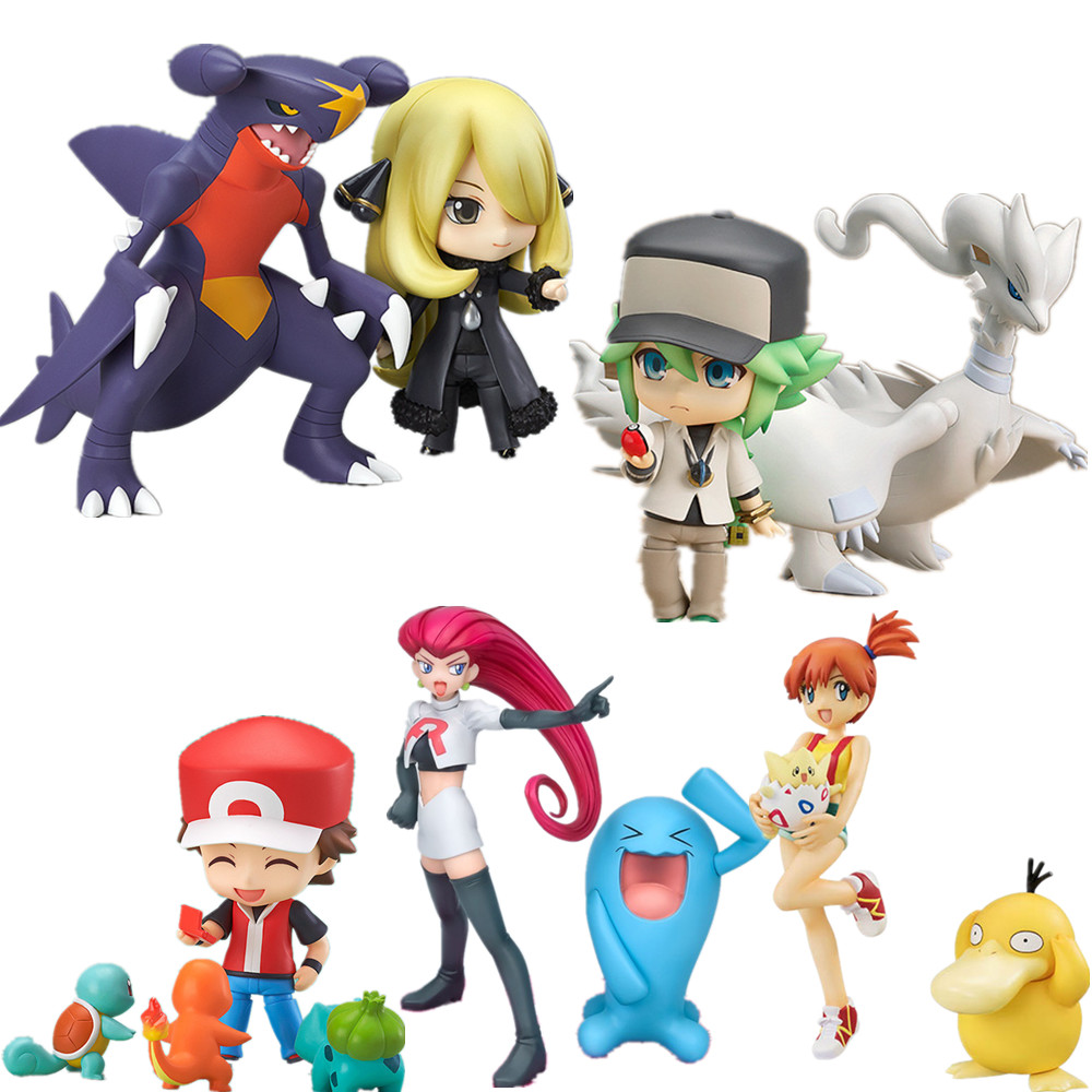Pokemon Q.ver PVC Action Figure Jessie Misty Ketchum Cynthia N Toys Anime Pokemon Pikachu Reshiram Psyduck Figurine