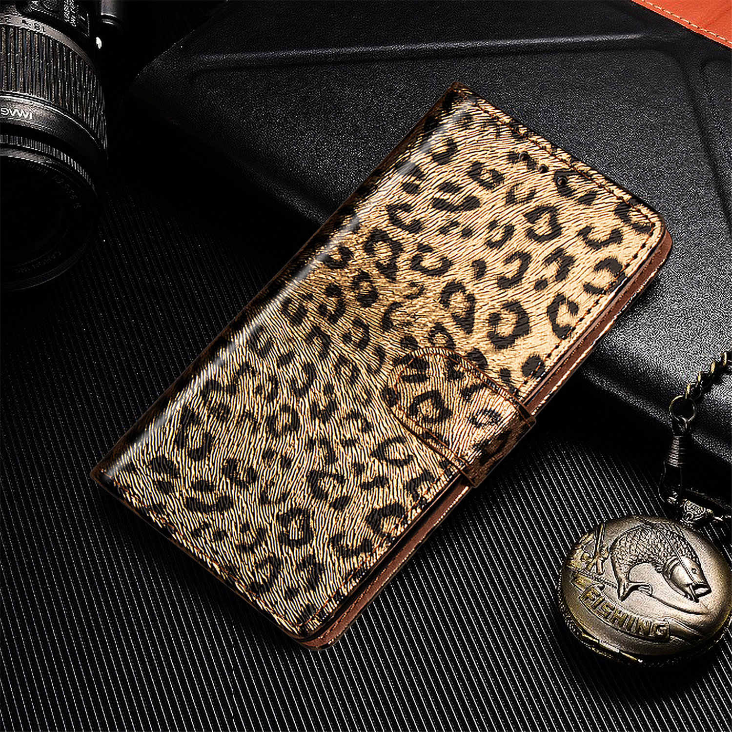Leather Case For Apple iPhone 11 7 8 6 6s Plus Pro XR XS Max X Leopard Fur Wallet Flip Book Case Cover on For iPhone 11 Pro Max