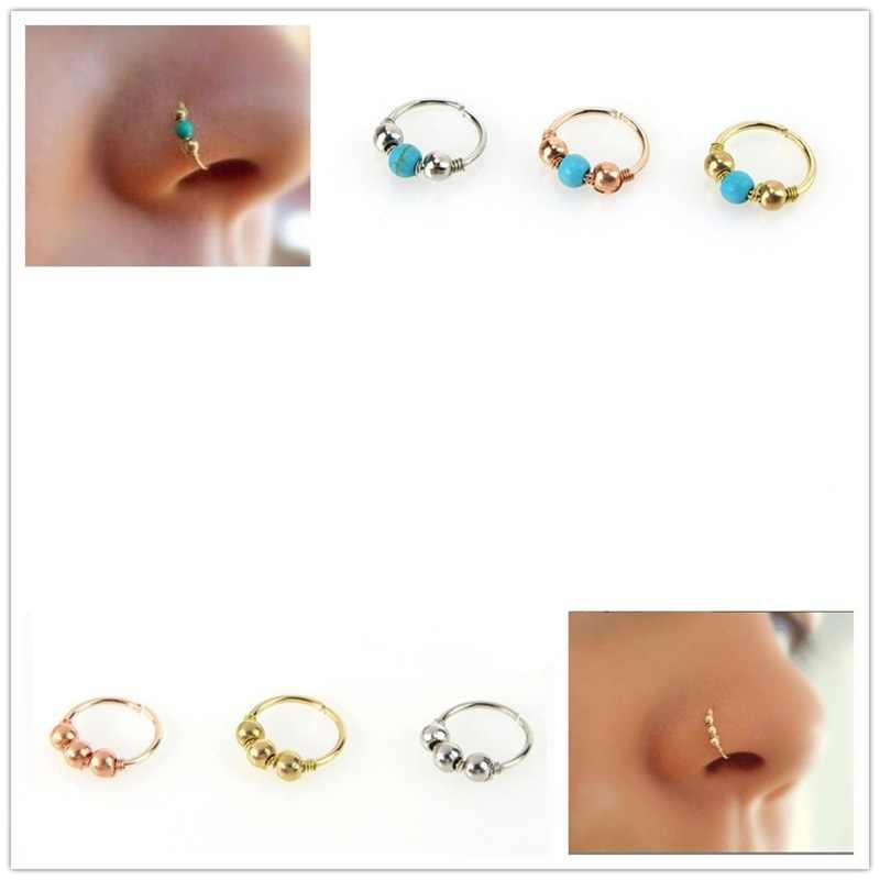 1 Pcs Fashion Adjustable Cilp On Nose Rings Nose Studs Stainless