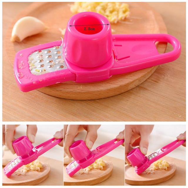 Plastic Ginger Garlic Grinding Tool Magic Plastic Garlic Peeler Slicer Cutter Grater Planer Garlic Press Kitchen Cooking Gadgets