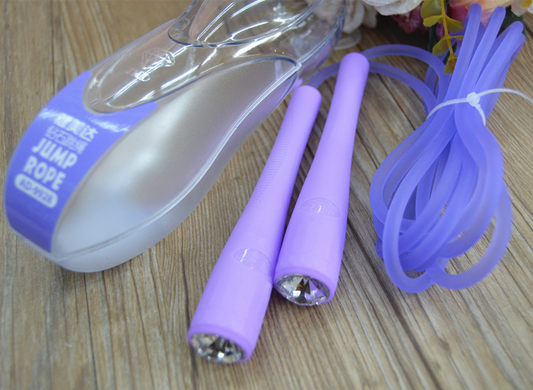 Healthy Beauty Up To Children Jump Rope Standard Color Primary School STUDENT'S Sports Diamond Color Plastic Toys Color
