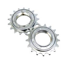 Única velocidade 17t 34mm volante da bicicleta estrada roda livre cromo molibdênio engrenagem de aço peças bicicleta acessório 60 cliques