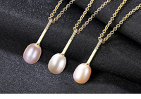 S925 sterling silver necklace women's fashion freshwater pearl zircon accessories CSG15
