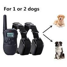 Дистанционный ошейник для собак, перезаряжаемый водонепроницаемый ошейник для дрессировки собак, устройство для дрессировки собак против лай для маленьких, средних и больших собак