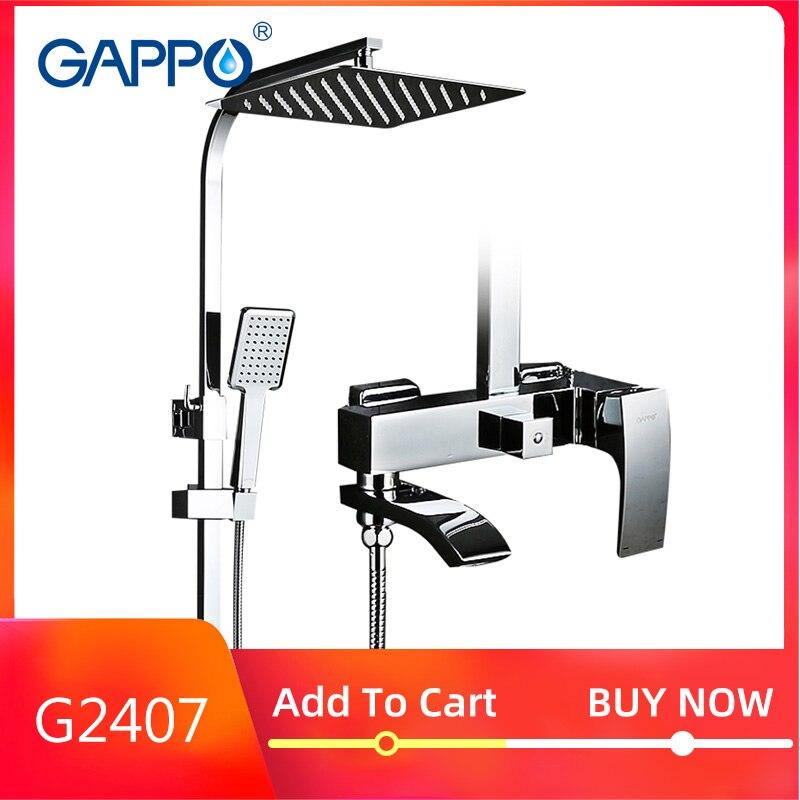 GAPPO G2407 robinet de douche en laiton cascade mur baignoire robinet mitigeur pomme de douche chrome salle de bain douche ensemble G2407 G2407-8