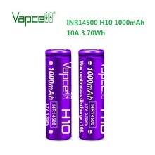 Frete grátis qz vapcell inr14500 1000mah 10a h10 3.7v 14500 bateria de lítio para lanterna/ferramentas elétricas