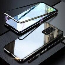 両面磁気360保護ケースxiaomi redmi注9 9s pro最大注8プロ8t 8A 9 K20 9t強化ガラス金属カバー