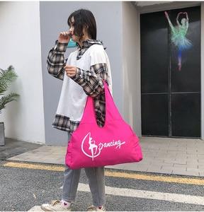 Image 3 - Jimnastik spor Yoga dans çantası kızlar için çanta Crossbody tuval büyük kapasiteli çanta kadın bale dans çantası yetişkin bale çanta