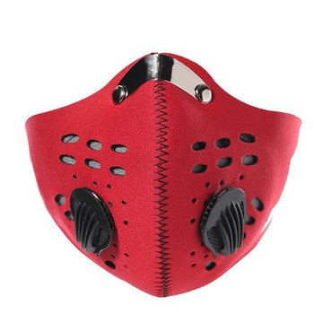 1 pcs Fashionable Respirator Mask With Breathing Valve Washable Cotton Activated Carbon Filter PM2.5 Anti-Dust Mouth Masks