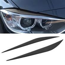 Cubierta tipo CEJA para faro delantero de coche, pegatina de fibra de carbono, decoración exterior automática para BMW Serie 3 F30, 2 uds.