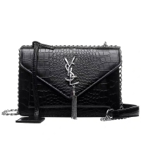 2019 Luxury Brand Famous ladies bag Women's classic plaid Shoulder Messenger Bags high quality Leather Women crocodile pattern tassel hanging ear Handbags Fashion chain female small square Bag Intellectual Girl Handbag