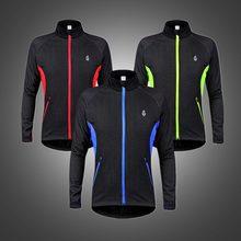 Clothing Cycling-Jackets Windbreaker Bicycle Reflective-Bike Fleece WOSAWE Water Winter