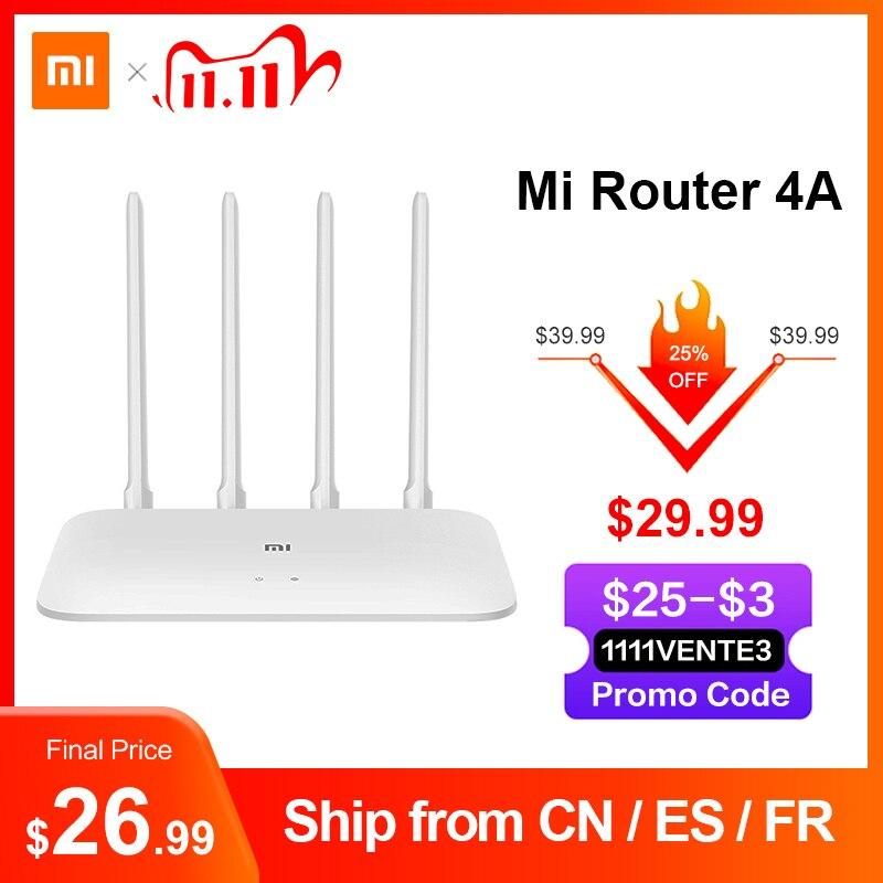 Глобальная версия Xiaomi Mi Router 4A Gigabit Edition 100M 1000M 2,4 GHz 5GHz WiFi ROM 16MB DDR3 64MB 128MB 4 антенны управление с помощью приложения on AliExpress - 11.11_Double 11_Singles' Day