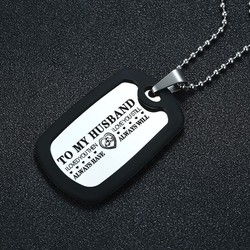 Vnox Personalize Dog Tag for Men Silicone Stainless Steel Pendant Custom Necklace for Him Valentines Day Promise Gift