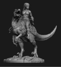Новая несобранная Статуэтка 1/24 75 мм в стиле древней Фэнтези, женщина, воин и динозавр, искусственная смола, набор