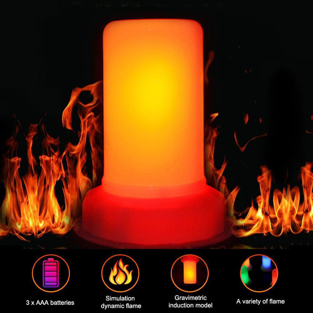 LED Nightlights DC 5V LED Flame Effect Lamp Flame Decoration Lamp Portable Flame Night Light Ambient Lamp Children's Night Light