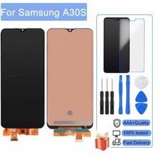 AAA+ 100% New LCD For Samsung Galaxy A30s A307 A307F A307G Display Touch Screen Digitizer Assembly With Frame Display Free Shipp