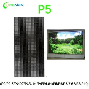 smd2121 full color indoor led module p5 p4 p3 64*32 / led matrix module RGB p5 panel(China)