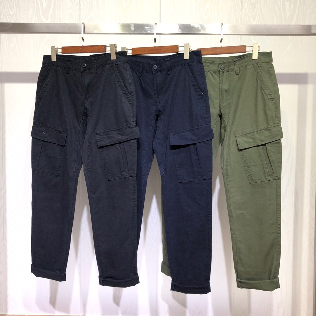 19fw Compass Small Icon Multi-pockets Military-Style Bib Overall Men And Women Loose-Fit Versatile Straight-Cut Casual Pants Lon