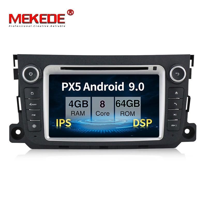 PX5 4GB + 64GB lecteur multimédia de voiture Android 9.0 pour Mercedes/Benz Smart Fortwo 2011 2012 2013 2014 avec autoradio DSP IPS navi