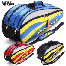 Badminton-Bag Tennis-Racket-Bags New for 43-Shoes Double-Zipper Waterproof 6--8pcs Large