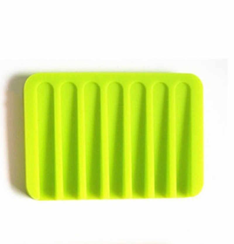 1 pc silicone cozinha banheiro prato de sabão bandeja caixa de sabão doces cores