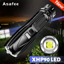Powerful XHP90 LED Flashlight Lamp Zoom Torch USB Rechargeable XHP90 Tactical Light Camping Hunting Lamp Flash Light Torch Lamp