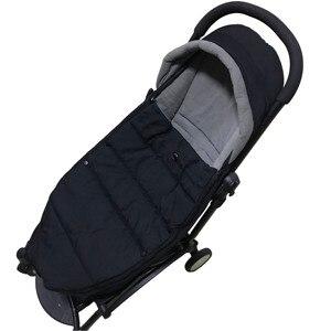 Image 2 - Poussette bébé sac de couchage hiver pied Muff sommeil sac siège enveloppe universel pour Babyzen Yoyo Bugaboo Bee3 Bee5 bruant sacs