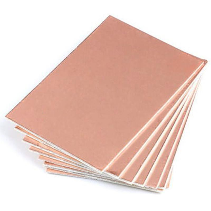 2/5/10PCS 10X15CM FR4 1.5MM Thickness Single PCB Copper Clad Laminate Board