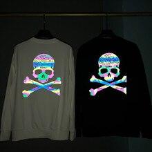 цена на Mastermind-C2H4 Hoodie 2019 Men Women Casual Mastermind Japan Sweatshirts   Streetwear Skull Reflective Logo  MMJ  Hoodies