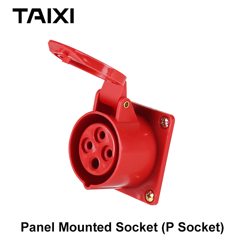 SF-224 AC 380-415V 32A 4 Pin Weather Proof Industrial Socket