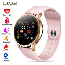 นาฬิกาแฟชั่นผู้หญิงกีฬานาฬิกาอิเล็กทรอนิกส์ LED หน้าจอสีชาย Smart Watch สำหรับ Android IOS นาฬิกาหญิงนาฬิกาข้อมือ