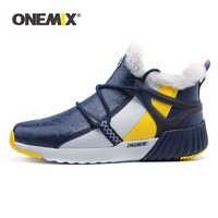 ONEMIX High Top Sneakers Für Männer Neue Mode Winter Warme Wolle Stiefeletten Paar Wandern Wohnungen Schuhe Outdoor Trekking Schnee stiefel