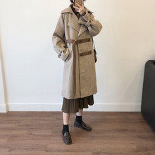 Winter new 2020 Long style wool plaid coat mori girl japanese all match warm trench loose thick overcoat(China)