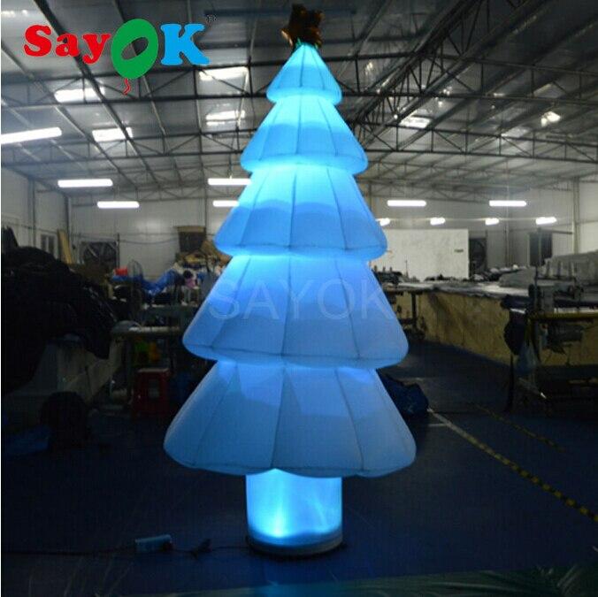 Бесплатная доставка Надувные Мультяшные воздушные шары рождественской елки с рождественским украшением гигантские шары для торгового центра/отеля - 4