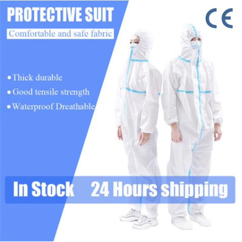 Protective Clothing Reusable Men's Overalls Coverall Isolation Protection Suit Dust-proof Antistatic Dust Factory Whloesale CE