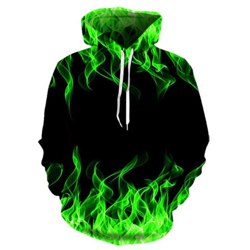2020 New Colorful Flame Hoodie 3d Sweatshirt Men And Women Hooded Loose Autumn And Winter Coat Street Clothing Jacket Hoodies S-