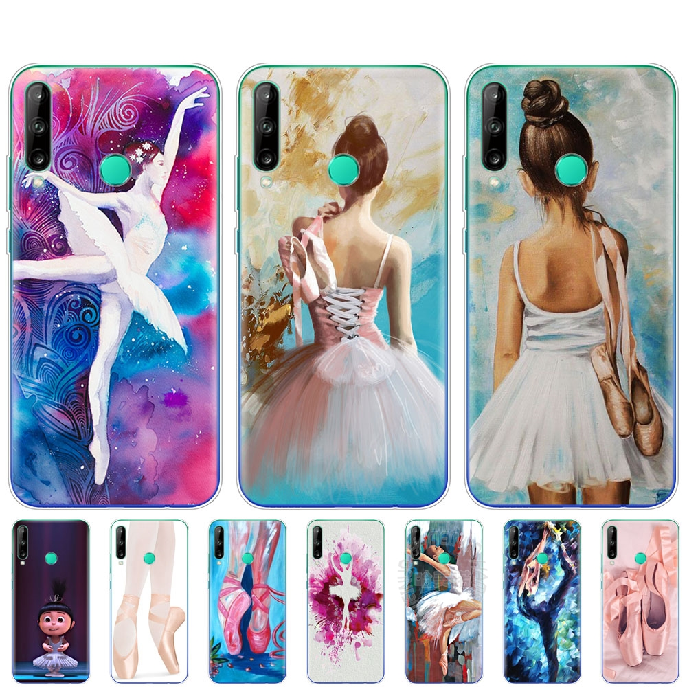 silicon phone <font><b>cover</b></font> <font><b>case</b></font> for <font><b>huawei</b></font> p40 lite E p40 pro <font><b>cover</b></font> for <font><b>huawei</b></font> Y7P Y6S Y9S <font><b>NOVA</b></font> <font><b>5T</b></font> Ballet Dance Girl Ballerina slippers image