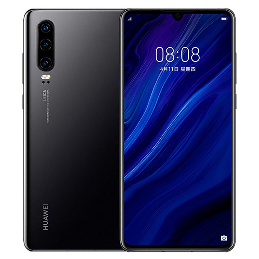 "Global Version Huawei P30 Dual SIM Mobile Phone 8GB RAM 128GB ROM 6.1"" Android 9.0 Triple Rear Camera 40MP+8MP+16MP 4G LTE Phone"
