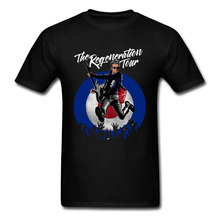 лучшая цена Regeneration Tour T-shirt Men Rock n Roll T Shirt Cotton Tshirt Black Clothing Music Lover Tees Guitar Player Tops Band Shirts