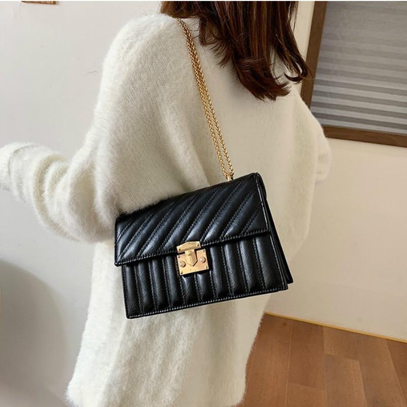 Korean Fashion Women Lady Chained Tote Shoulder Messenger Handbag Cross Body Bag