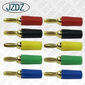 JZDZ jz10007 fiche banane soudée | 10 pièces 2.5mm avec motif spiralé avec gaine isolante en PVC