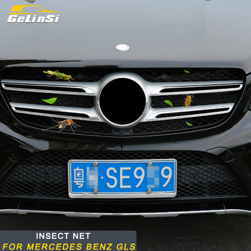 Gelinsi For Mercedes Benz GLS X166 2016-2019 Car Front Hood Grills Anti Insect Mosquito Sunscreen Window Net Mesh Sun Visors